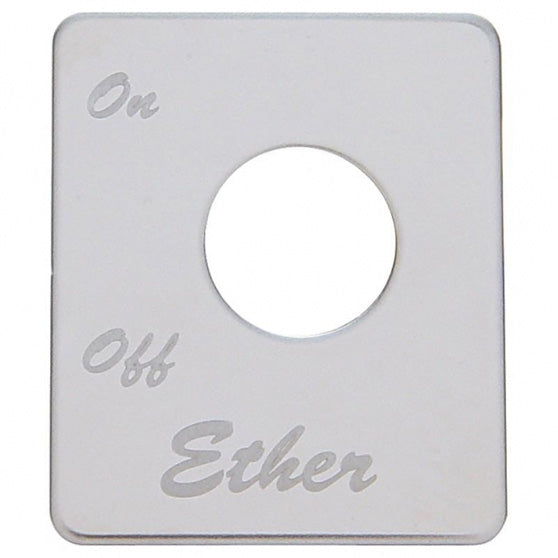 Peterbilt Engraved Ether Switch Plate