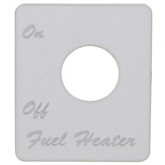 Peterbilt Engraved Fuel Heater Switch Plate