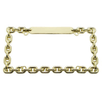 Brass Gold Chain License Plate Frame
