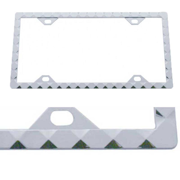 Chrome Diamond License Frame