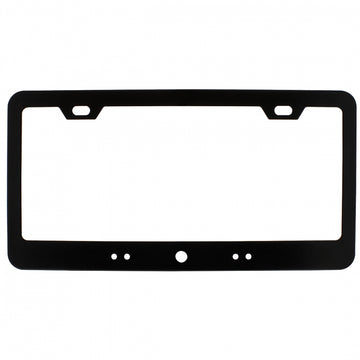 Black License Plate Frame with LED Light Bar Cut Out