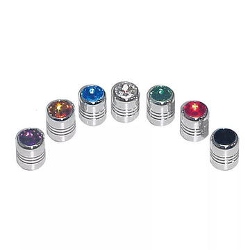 1 5/8 Inch Tall License Plate Fastener Sets With Crystal On Top