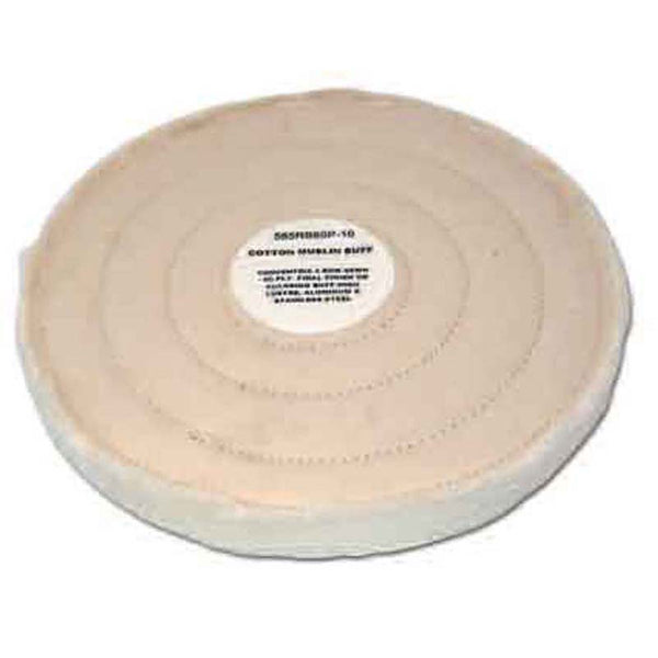 60 Ply Row Sewn White Cotton Muslin Buffing Wheel