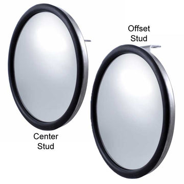 "Chrome 8 1/2"" Convex Mirror"