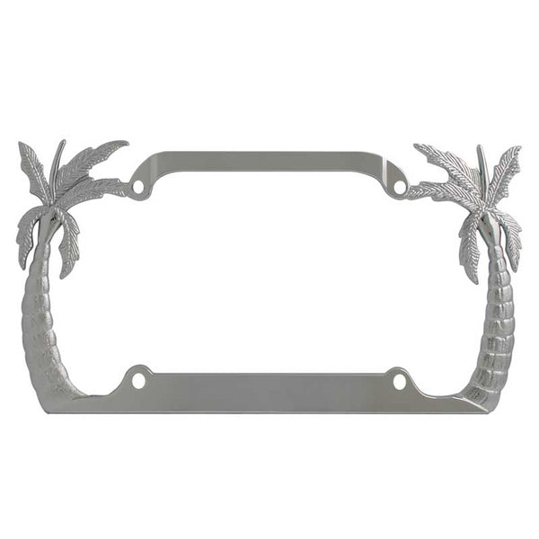 Palm Tree License Plate Frame W/ Four Holes