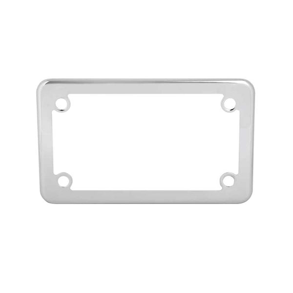 Chrome Motorcycle License Plate Frame W/ Four Holes