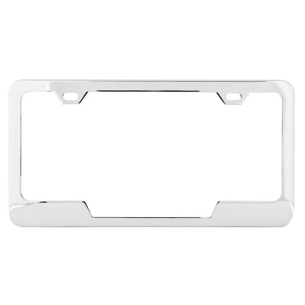 Plain Two Hole License Plate Frames with Center Cut