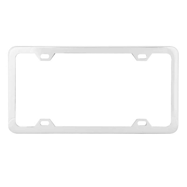Plain Four Hole License Plate Frames With Thin Bottom