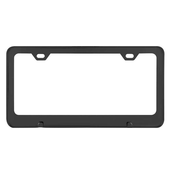 Flat/Matte Plain Black 2 Hole License Plate Frame