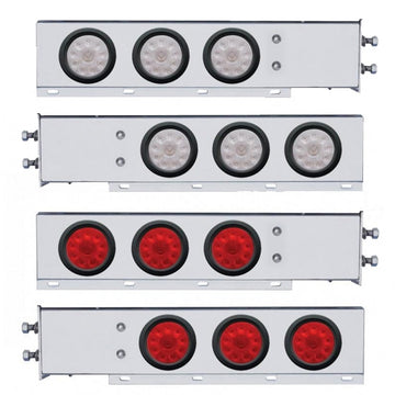 2 1/2 Inch Bolt Pattern Rear Light Bar With  10 LED Lights And Grommets