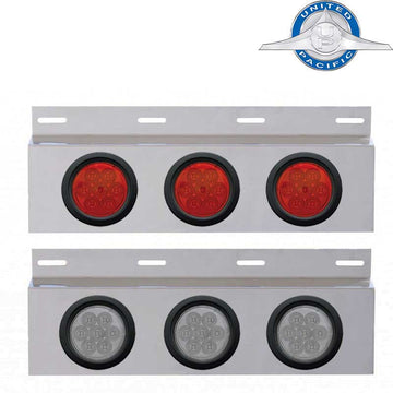 Stainless Top Mud Flap Plate with 3 Lights & Grommets
