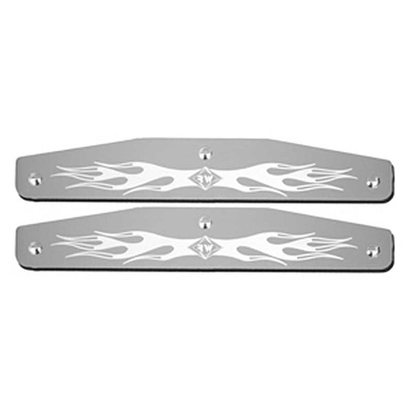 Stainless Steel 16 Inch Mudflap Weight Bottom with Flame Design
