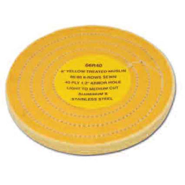 40 Ply 86/80 Yellow Row Sewn Treated Muslin Cutting Wheel