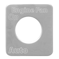 Kenworth Engine Fan Switch Plate