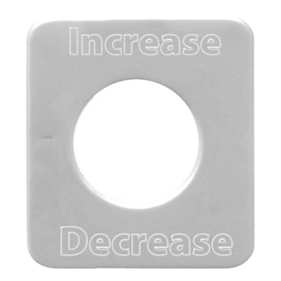 Kenworth Increase/Decrease Switch Plate
