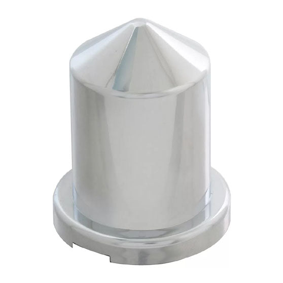 Pointed Chrome Plastic Push-On Lug Nut Cover