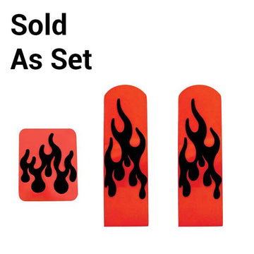 Peterbilt Annodized Flame Pedal Set In Red