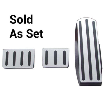 Freightliner Chrome Pedal Set With Black Inserts