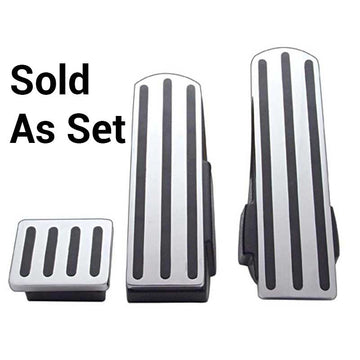 Kenworth Chrome Pedal Set With Black Inserts