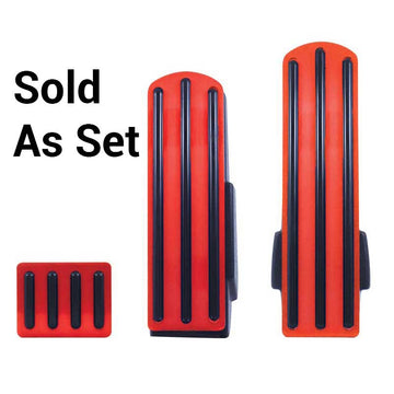 Kenworth Red Anodized Pedal Set with Black Insert