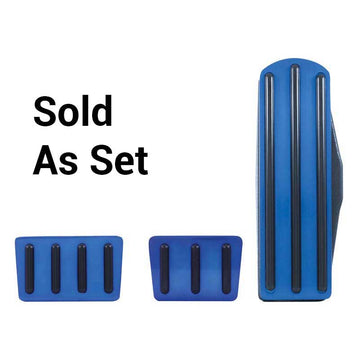 Freightliner Blue Anodized Pedal Set with Black Insert