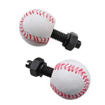 Baseball License Plate Fasteners