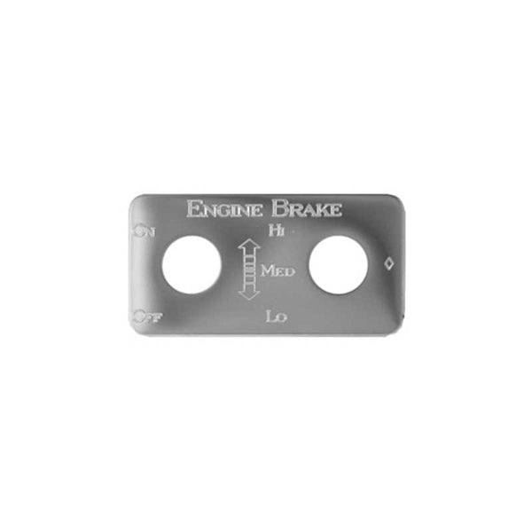 Stainless Steel Hi/Med/Lo Engine Brake Switch Plate