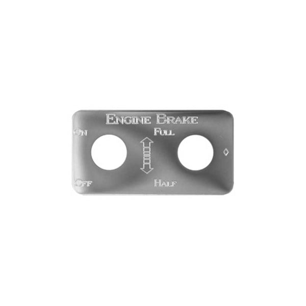 Stainless Steel Full/Half Engine Brake Switch Plate