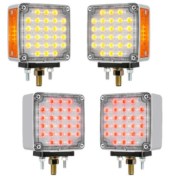 Amber/Clear & Red/Clear Smart Dynamic Double Face LED Light
