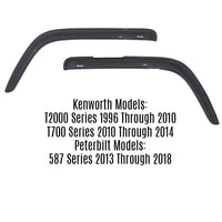 Kenworth Ventvisor Side Window Deflectors