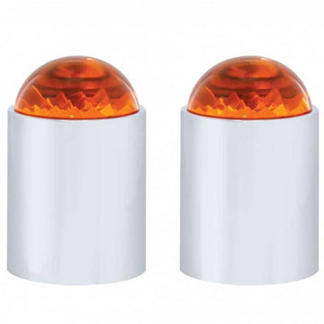 Stainless Steel Bumper Guide with Amber 1/2 Dome Style Lens