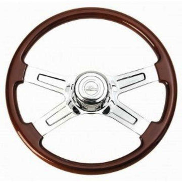 Peterbilt/Kenworth Steering Wheel 4 Chrome Solid Spokes
