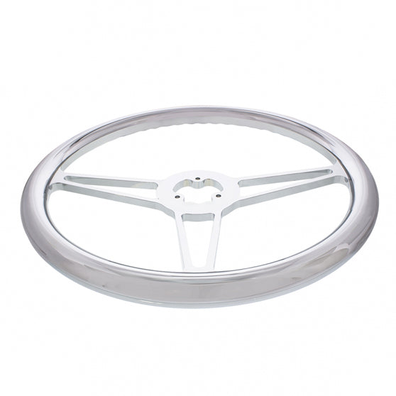 18 Inch Chrome Billet Style Steering Wheel