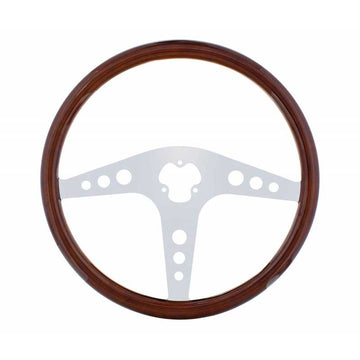 18 Inch Steering Wheel GT Style No Hub Adaptor/Horn Button