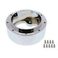 Chrome Aluminum 3 Bolt Hub Adaptor For 9 Screw Steering Wheels