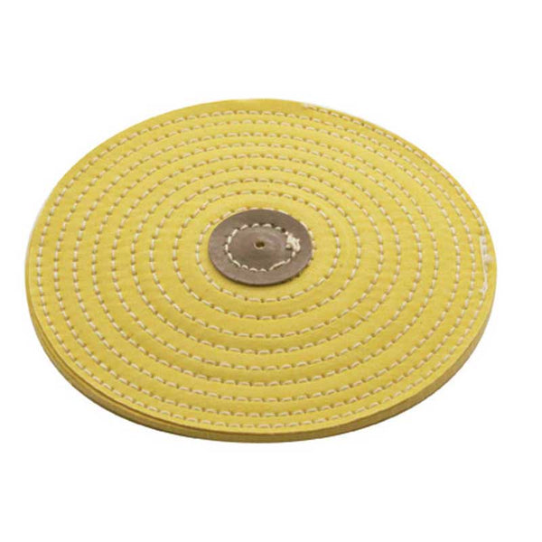 4 Inch Diameter Yellow Resin Razor Buff Moderate Cutting