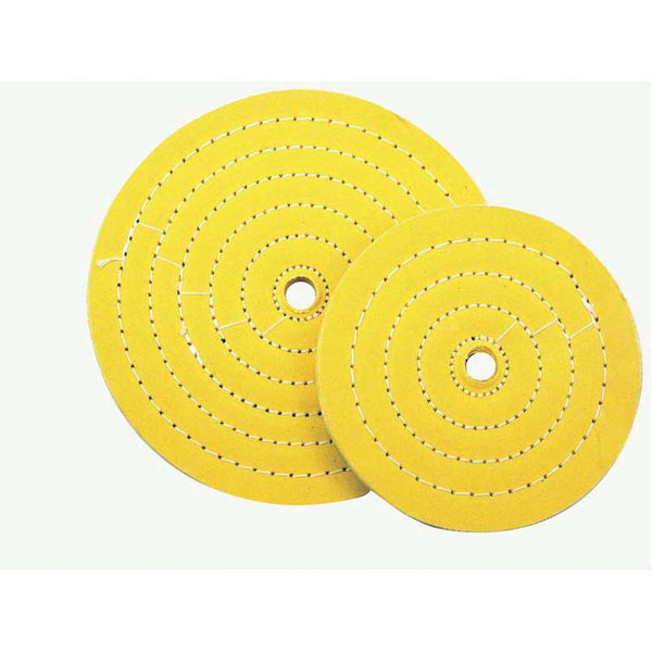 6 or 8 Inch Diameter Yellow Treated Moderate Muslin Buff