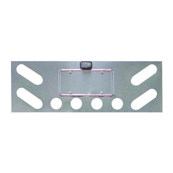 Stainless Steel Rear Center Panel With 4 Oval LEDs And 4 2.5 Inch LEDs Or Light Holes