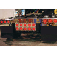 Stainless Steel Rear Center Panel with Ten 4 Inch Lights