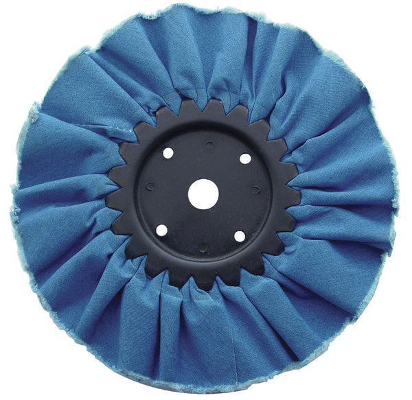 "Blue Resin Treated Airway Buff in 6"" or 8"" for Heavy Duty Use"