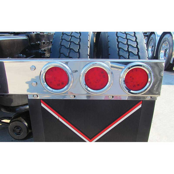 Stainless Steel Flat Top Mud Flap Hanger w/ Light Holes Only