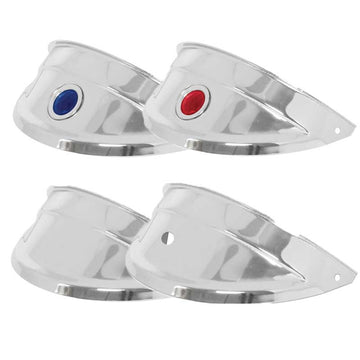 Chrome Headlight Visors W/ Color Dot