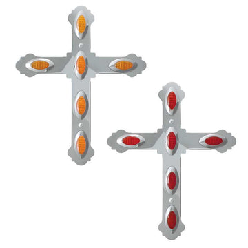 Extra Large Cross W/ Small Y2K Light Cut Outs