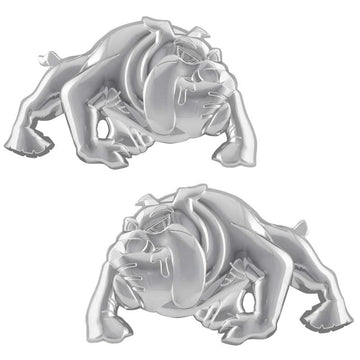 Chrome Plastic Bull Dog Accent