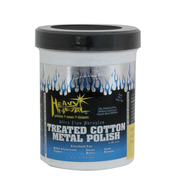 Heavy Metal White Cotton Polish 4 oz Can