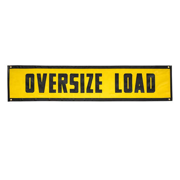 "Yellow Mesh ""Oversize Load"" Sign 84"" x 18"""