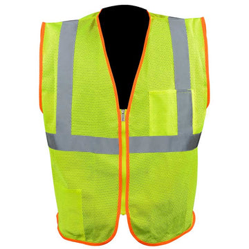 High Visibility Safety Vest with Zipper