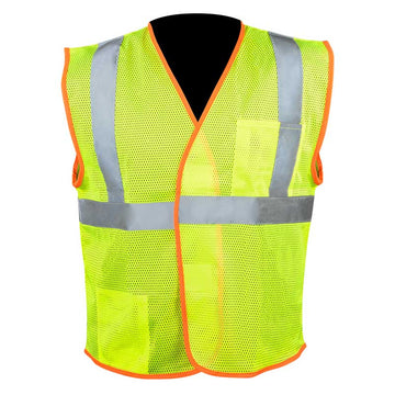 High Visibility Safety Vest with Hook and Loop