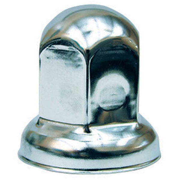 Chrome Metal 33mm Nut Cover with Flange