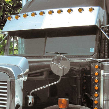 Freightliner Classic FLD 16 Inch Visor With Light Holes